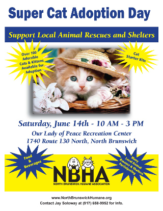 3rd Annual North Brunswick Humane Society Super Cat Adoption Day